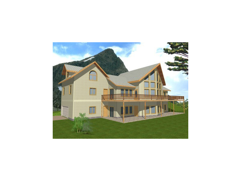 A-Frame House Plan Front of Home 088D-0106