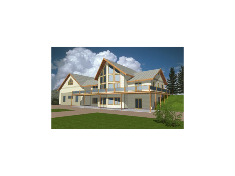 Lake House Plan Front of Home 088D-0107
