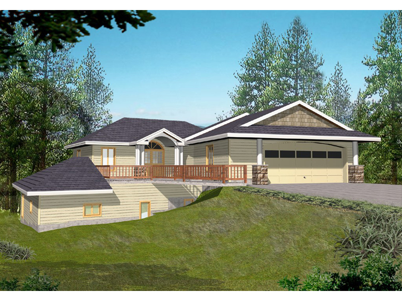 Ranch House Plan Front of Home 088D-0108