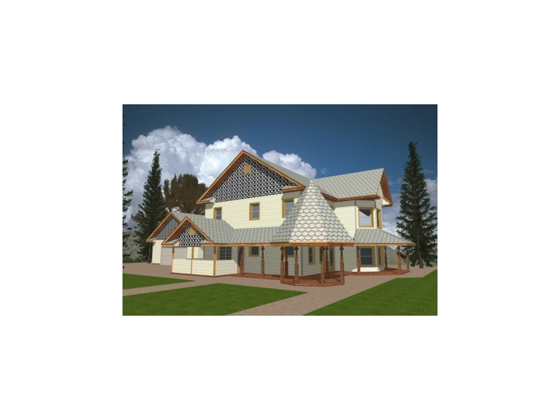 Victorian House Plan Front of Home 088D-0112