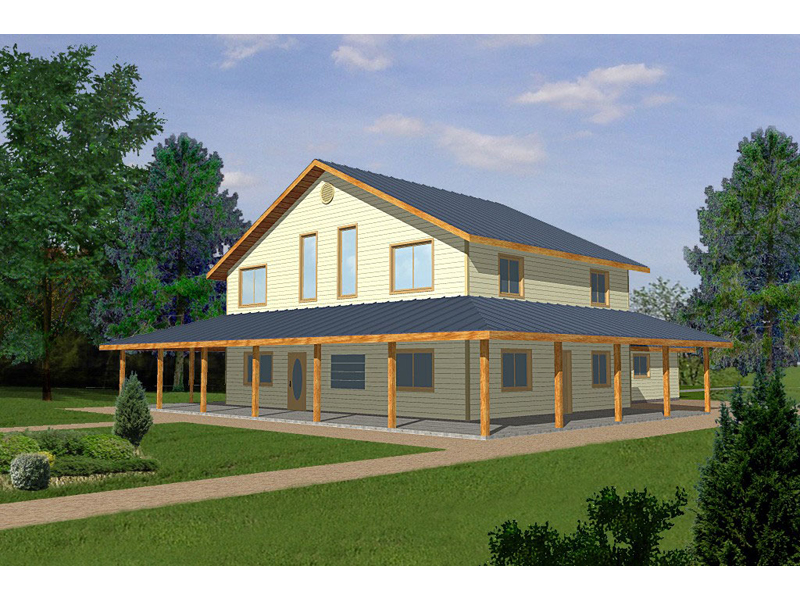 Country House Plan Front of Home 088D-0115