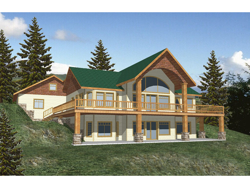 Lake House Plan Front of Home 088D-0116