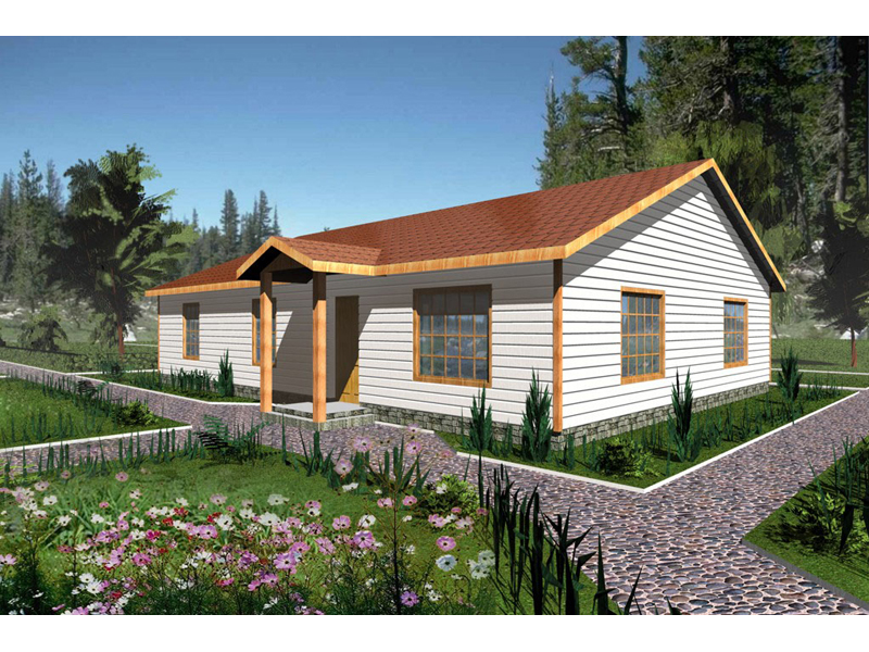 Ranch House Plan Front of Home 088D-0118