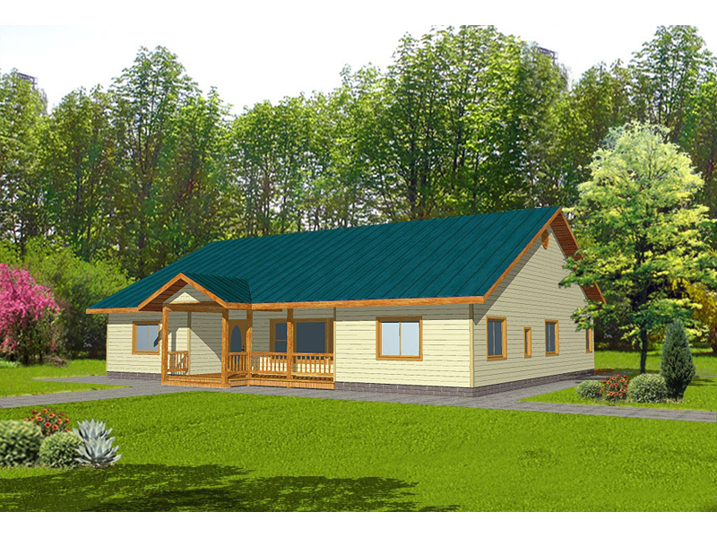 Ranch House Plan Front of Home 088D-0119