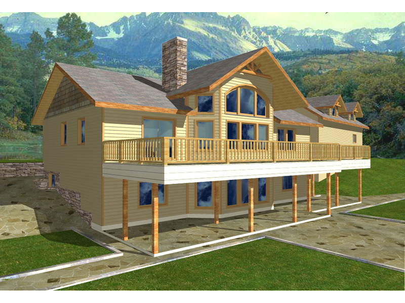 A-Frame Home Plan Front of Home 088D-0120