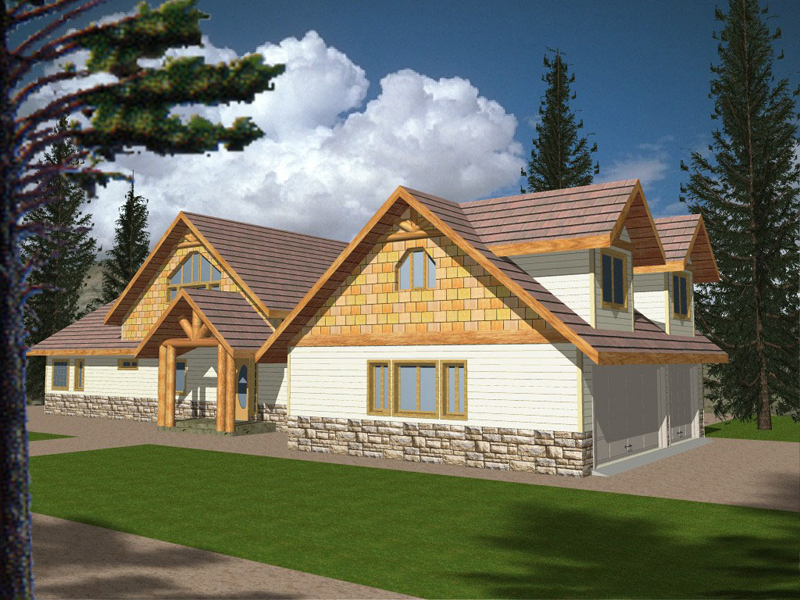 Lake House Plan Front of Home 088D-0121