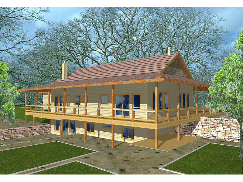 Lake House Plan Front of Home 088D-0124