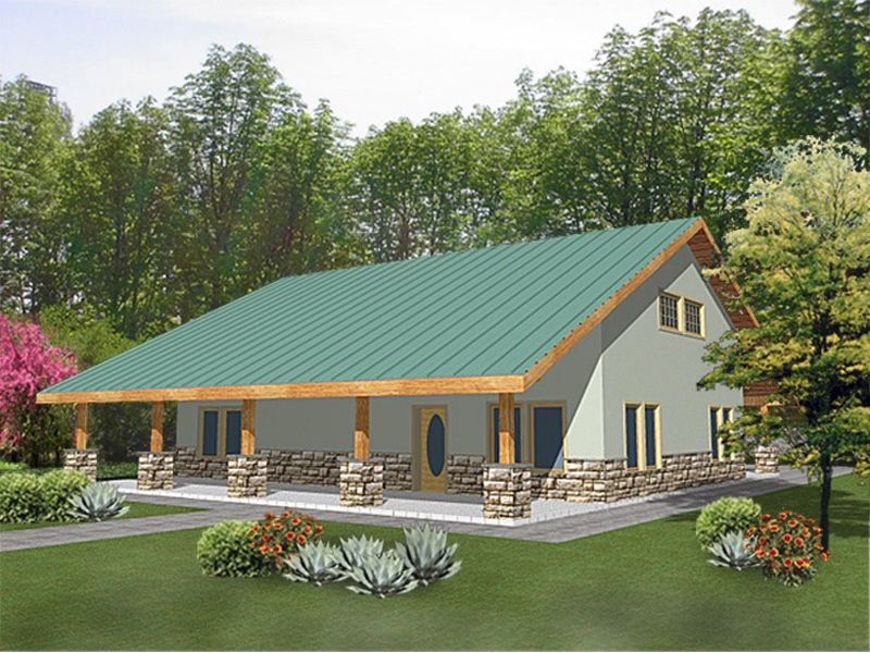 Country House Plan Front of Home 088D-0125
