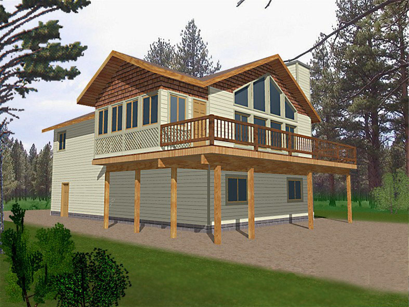 Cabin and Cottage Plan Front of Home 088D-0127