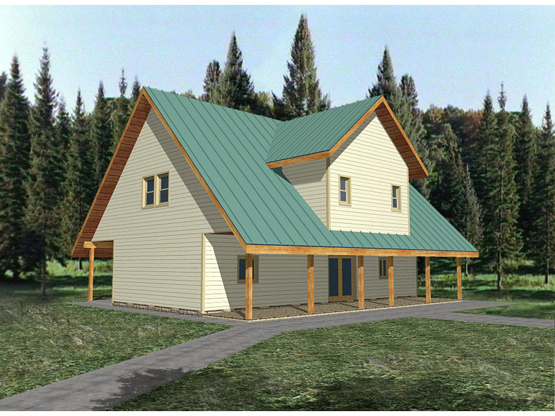 Vacation Home Plan Front of Home 088D-0131