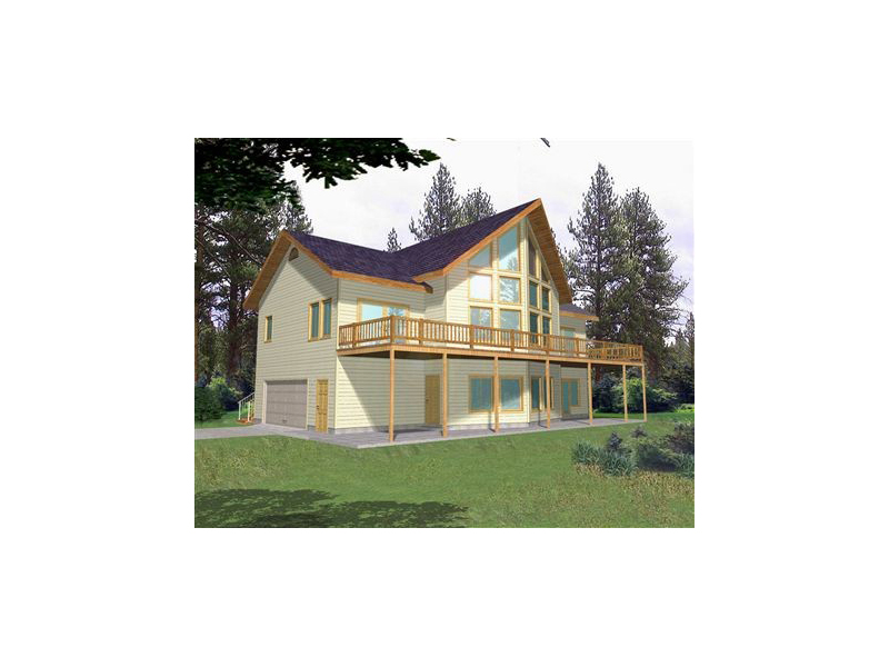 A-Frame Home Plan Front of Home 088D-0137