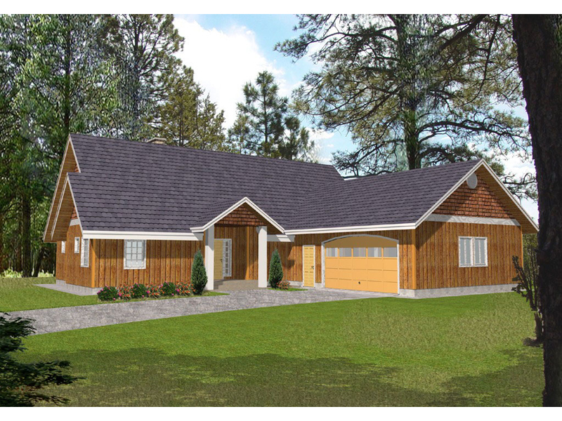 Shingle House Plan Front of Home 088D-0138