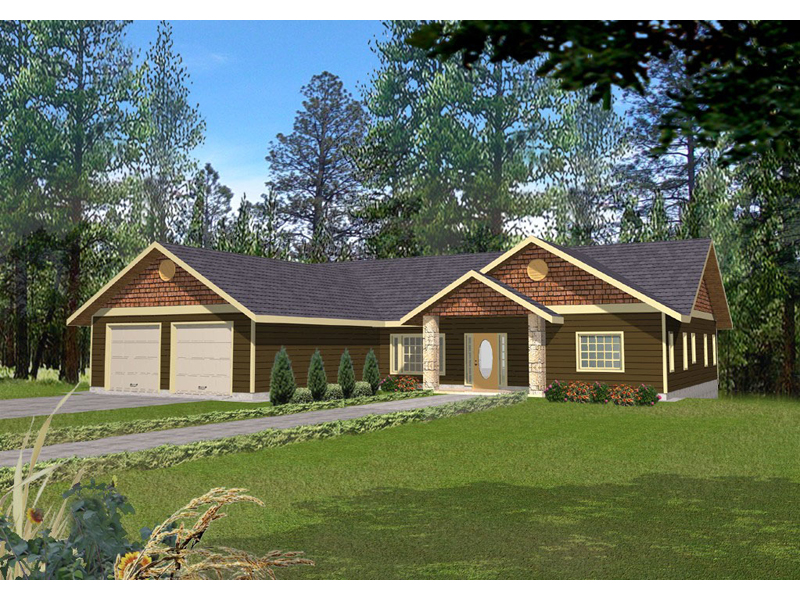 Rustic Home Plan Front of Home 088D-0139