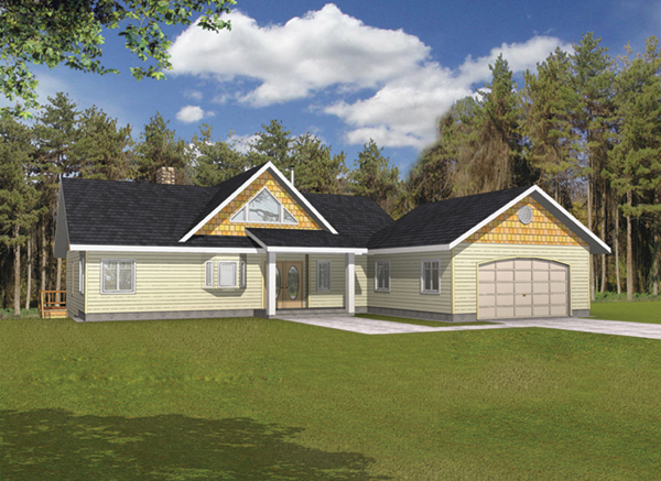 Golden lake rustic a frame home plan 088d 0141 house for A frame house plans with basement