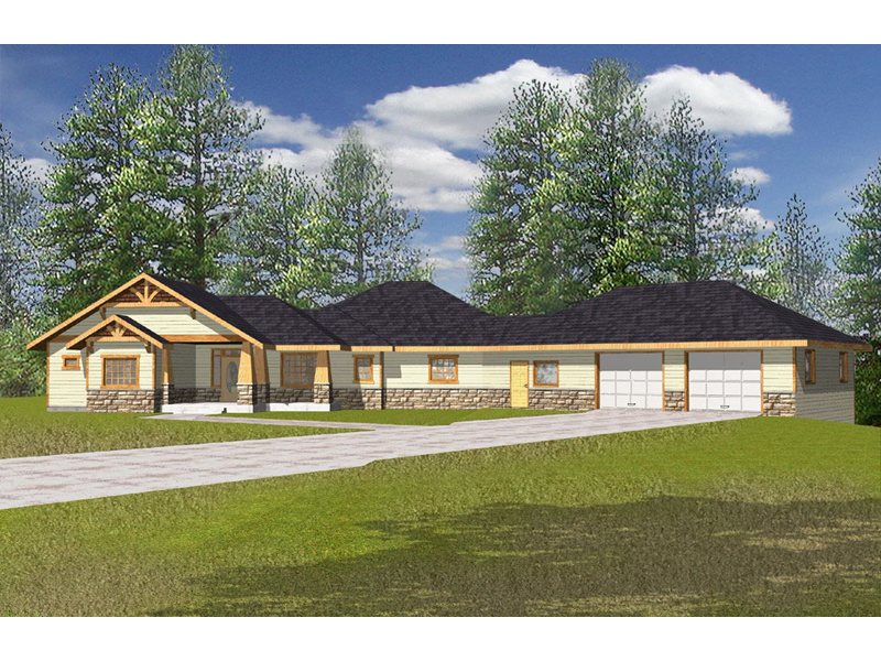 Ranch House Plan Front of Home 088D-0144
