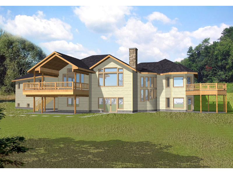 Lake House Plan Front of Home 088D-0146