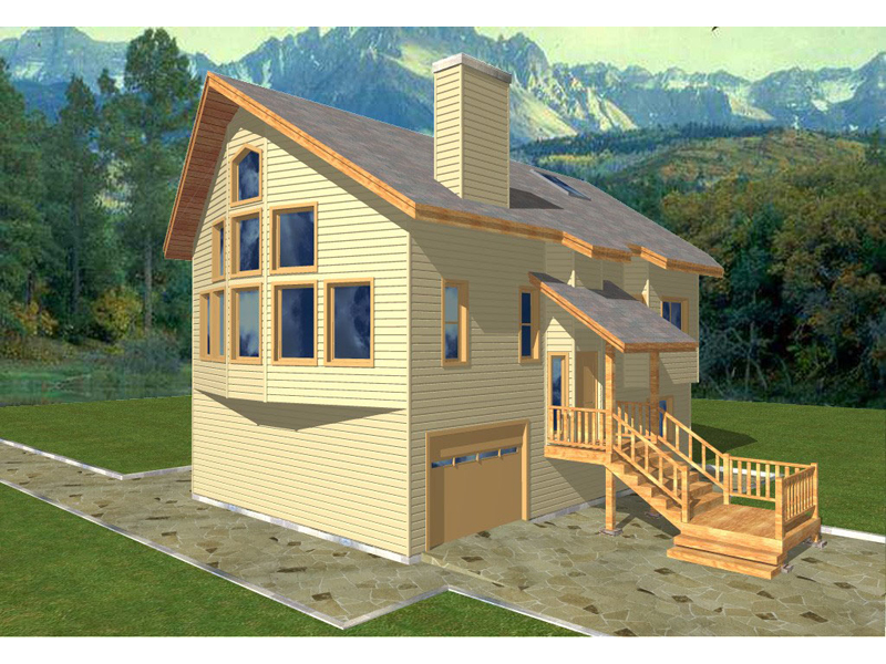 Multi-Level A-Frame House Design Perfect For Views