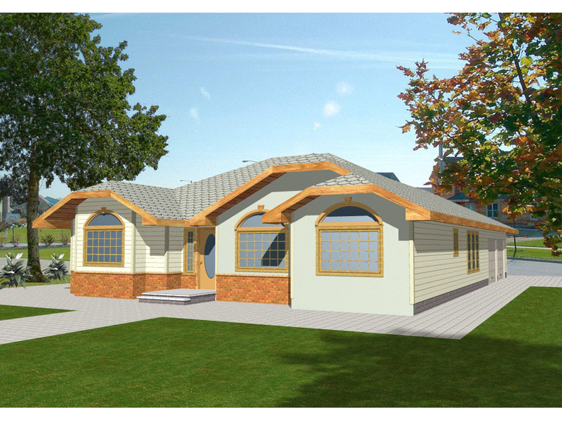 Vacation House Plan Front of Home - 088D-0160 | House Plans and More