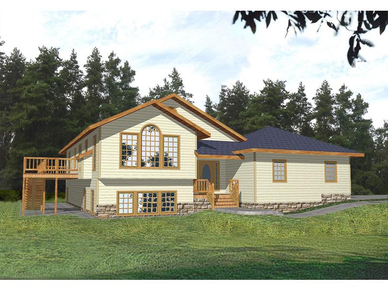 Split-Level Home Has Oversized Windows