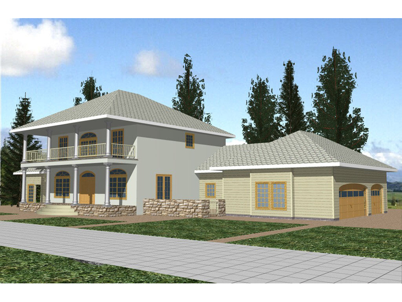 Southern Plantation House Plan Front of Home - 088D-0196 | House Plans and More