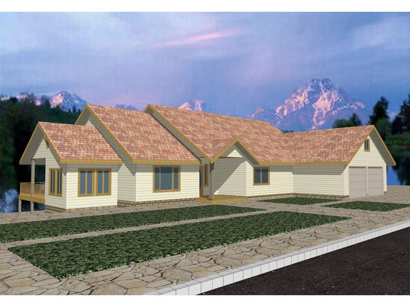 Oversized Luxury Ranch House With Sleek Style