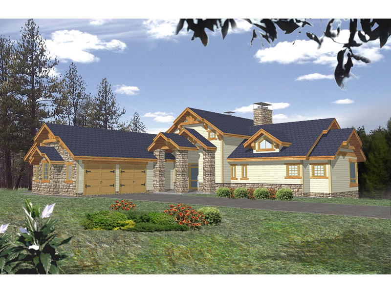 Stonework Adds Flair To This Luxury Log Home