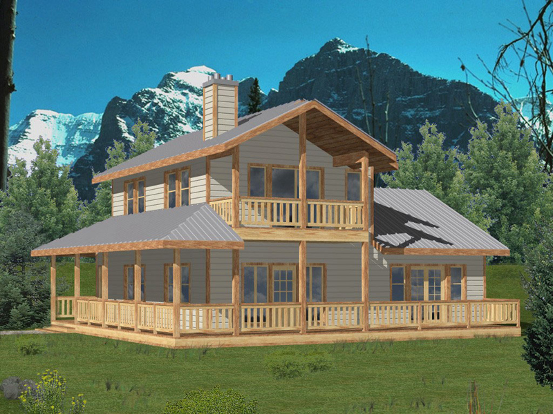Breckenridge rustic home plan 088d 0255 house plans and more for 2 story lake house