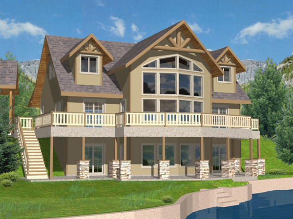 Purcell lake rustic home plan 088d 0259 house plans and more for Lake front house plans