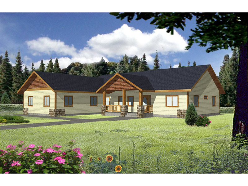 Ridgedale Rustic Ranch Home Plan 088d 0267 House Plans