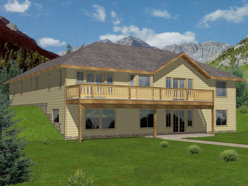 Large House Perfect Design For A Sloping Lot