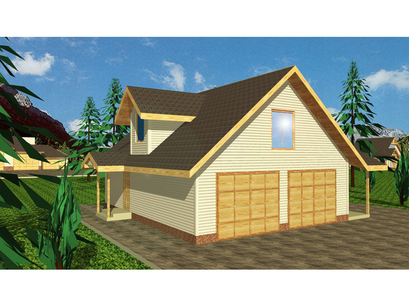 Bungalow Style Cottage Has Two Covered Porches