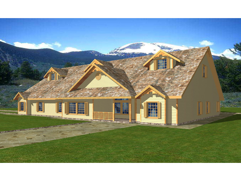 Ranch House Plan Front of Home 088D-0303