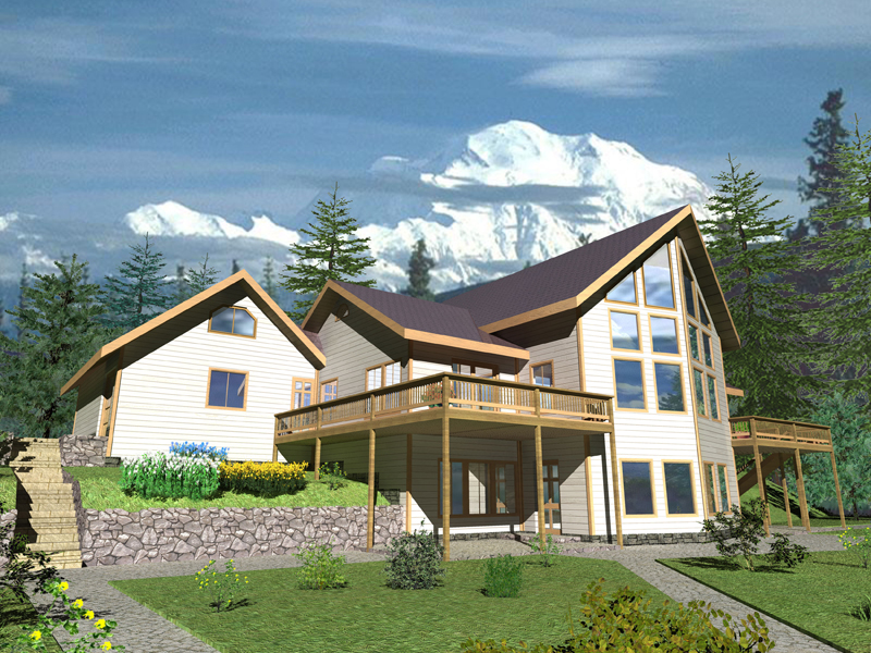 Mountain Home Plan Front of Home 088D-0330