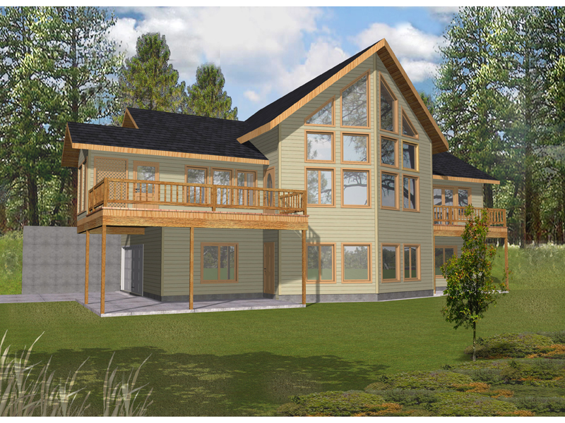 A-Frame Home Plan Front of Home 088D-0332