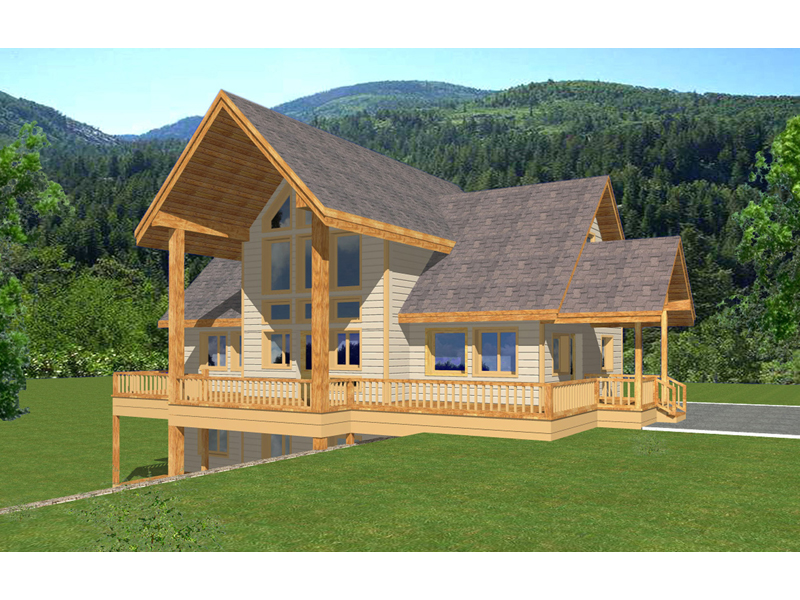A-Frame Home Plan Front of Home 088D-0336