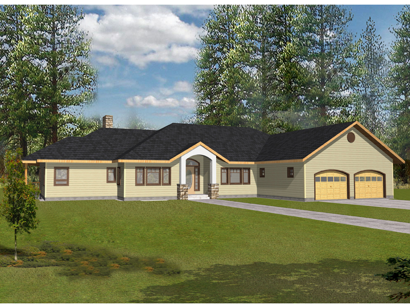 Ranch House Plan Front of Home 088D-0337