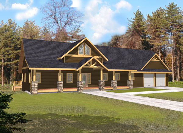 Indian Pass Rustic Home Plan 088D-0339 | House Plans And More