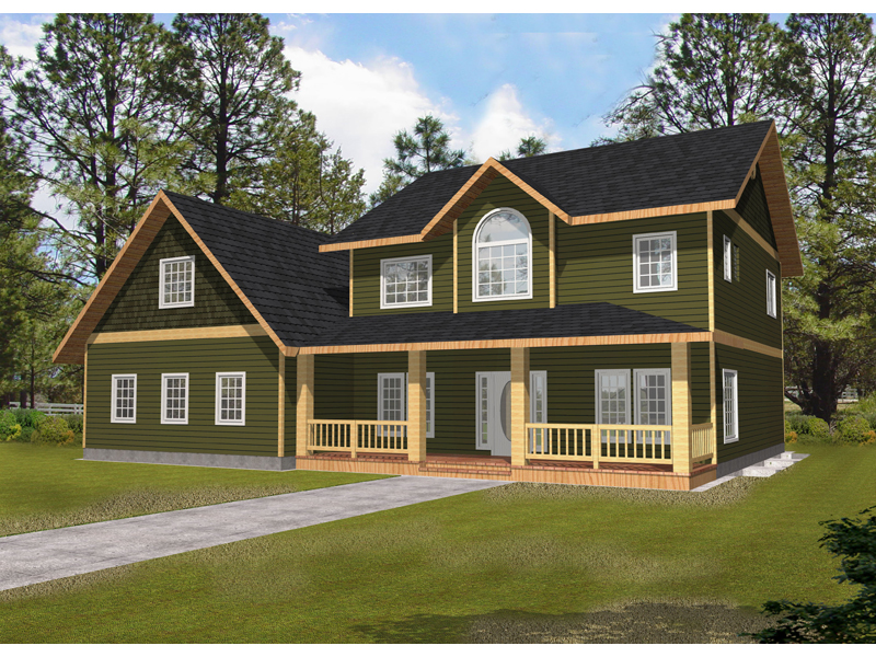 Traditional House Plan Front of Home - 088D-0344 | House Plans and More