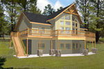 Wall Of Windows And Timber And Stone Columns Outfit This Mountain Home