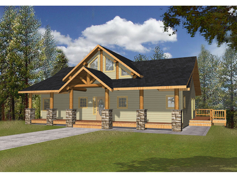 Homes With Columns bonanza a-frame cabin lake home plan 088d-0346 | house plans and more