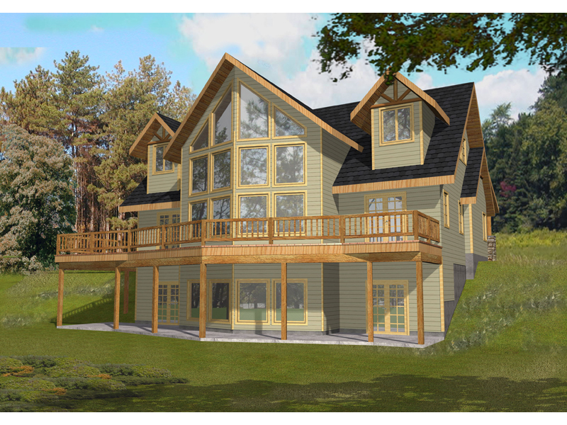 Lake House Plan Front of Home 088D-0353