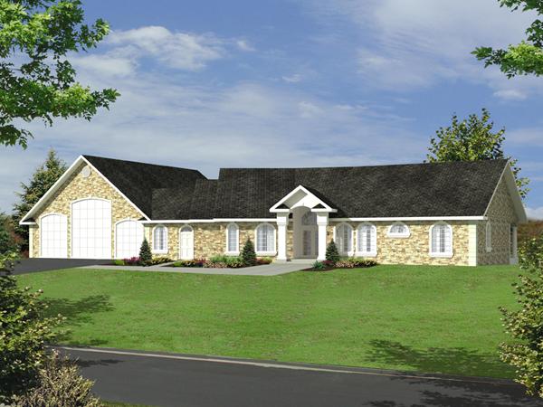 Burdeau Luxury Ranch Home Plan 088D 0366 House Plans And More