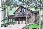 Lovely A-Frame Mountain Home Features Sizable Porch