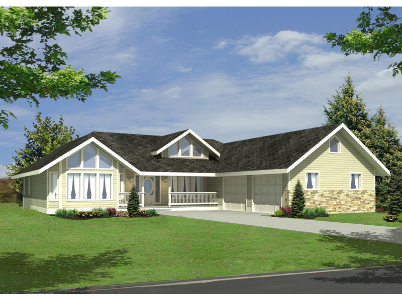 Craftsman House Plan Front of Home - 088D-0379 | House Plans and More