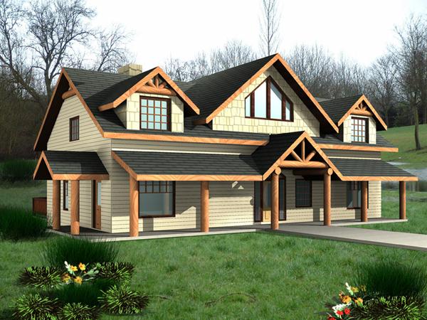 Mayfield Rustic Bungalow Home Plan 088D 0389 House Plans
