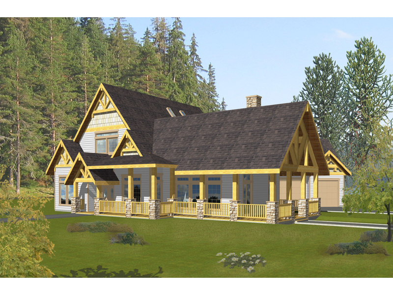 Rustic Home Plan Front of Home - 088D-0397 | House Plans and More