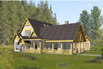 Vacation Home Plan Front of Home - 088D-0397 | House Plans and More