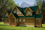 Log House Plan Front of Home - 088D-0408 | House Plans and More