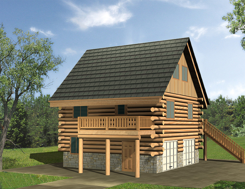 Lake House Plan Front of Home -  088D-0634 | House Plans and More