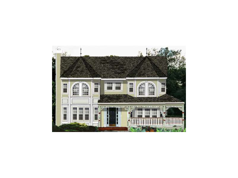 Victorian Style Two-Story With Grand Turrets And Intricate Wrap-Around Porch